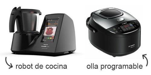 diferencia entre robot de cocina y olla programable