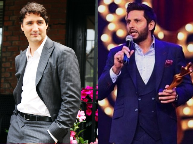 What do Shahid Afridi and Justin Trudeau have in common?