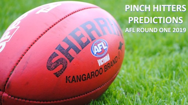 AFL 2019 – Round One Tips