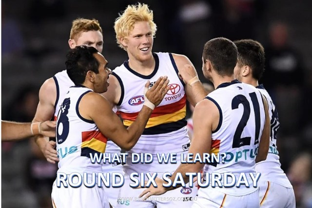 What did we learn Saturday? AFL Round Six 2019