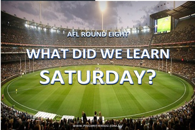 What did we learn Saturday: AFL 2019 – Round Eight