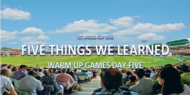World Cup Warm-Ups Day 5: Five Things We Learned