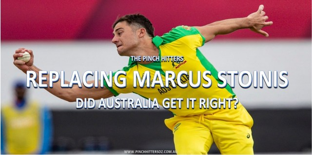 Replacing Marcus Stoinis