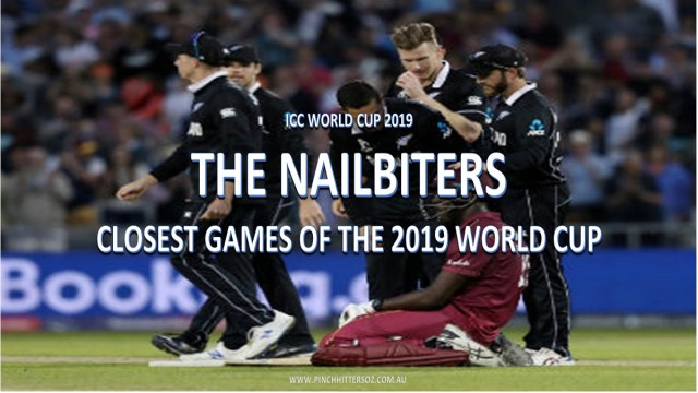 CWC19: Five closest matches