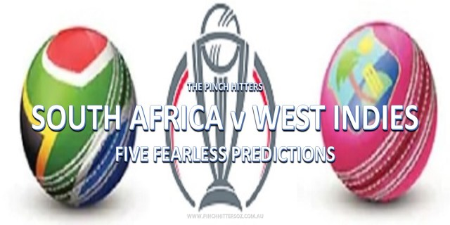 CWC19: South Africa vs West Indies – Five Fearless Predictions