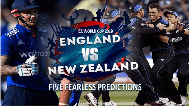 CWC19: England vs New Zealand – Five Fearless Predictions