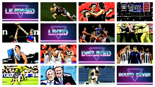 AFL 2020: Round Seven – Learned, Liked and Disliked.