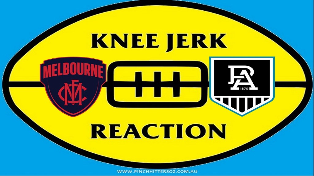 What was The Pinch Hitters Knee Jerk Reaction to Melbourne v Port Adelaide