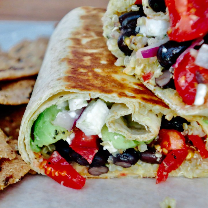 Loaded Black Bean and Veggie Burritos