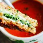 Roasted Tomato Soup and Pesto Grilled Cheese Picture