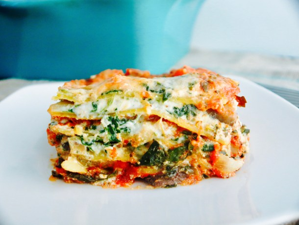 Mushroom and Spinach Lasagna