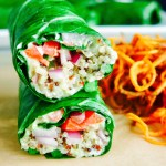 Amazing Collard Green Wraps with Spiralized Sweet Potato
