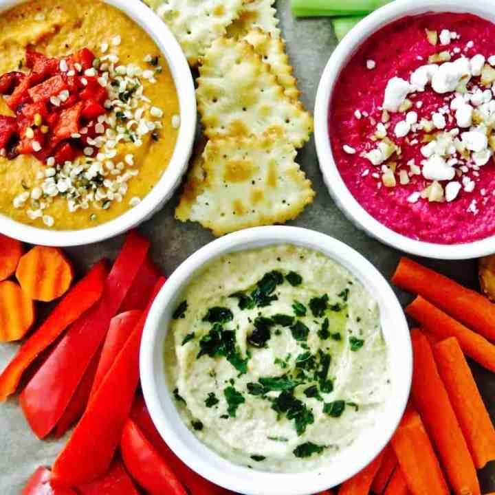 Hummus THREE Ways!