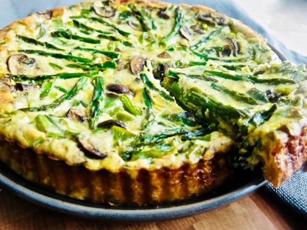 Asparagus Quiche Sliced