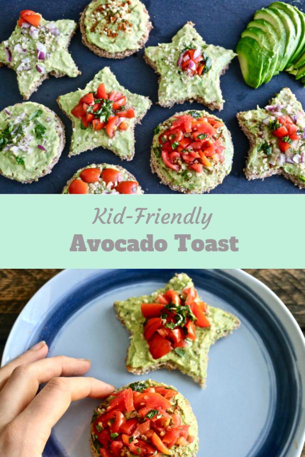 Kid friendly avocado toast