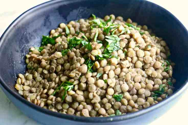 Savory delicious lentils packed full of incredible good for you flavor. A great make ahead recipe to have on hand all week!