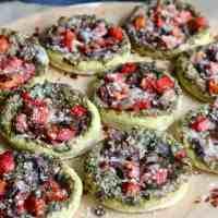 Pesto Veggie Mini Pizzas