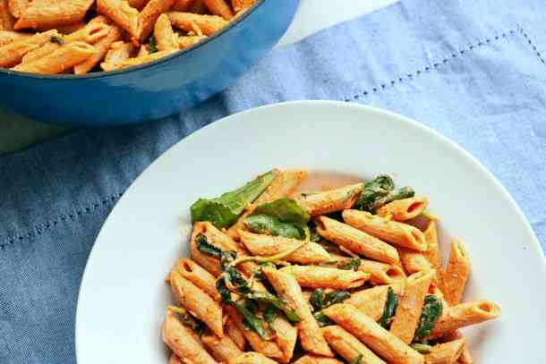 Penne on plate