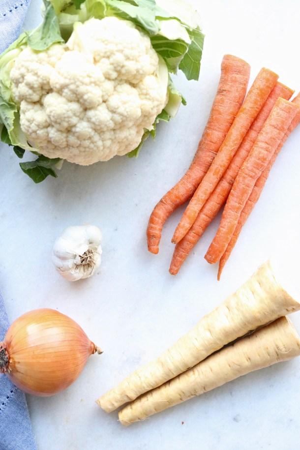 Ingredients for roasted veggie dip