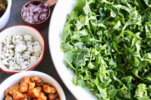 Kale salad ingredients
