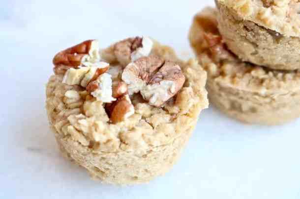 one mini oatmeal muffin