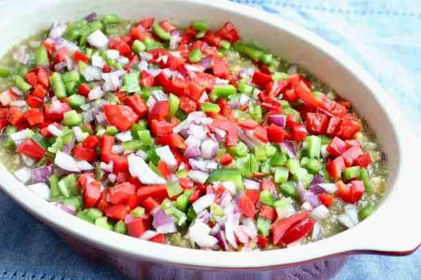 Veggies on to pro beans