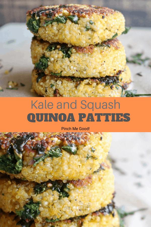 Kale and Squash Quinoa Patties