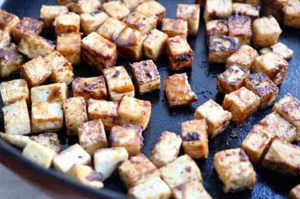 Sautéing tofu