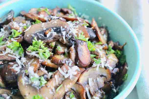 Garlic and herb cooked mushrooms