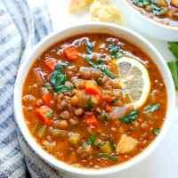 Instant Pot Lemony Lentil Soup