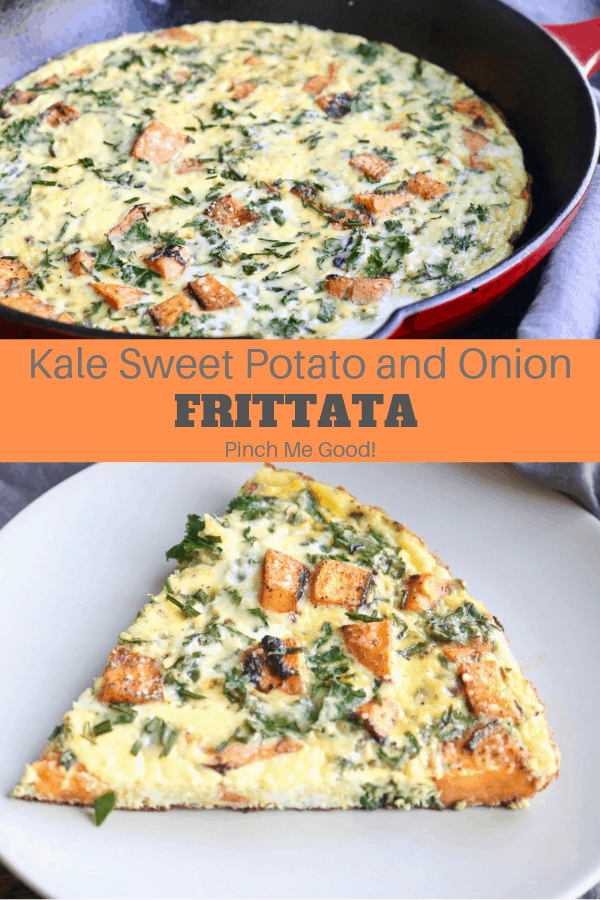 Kale Sweet Potato and Onion Frittata