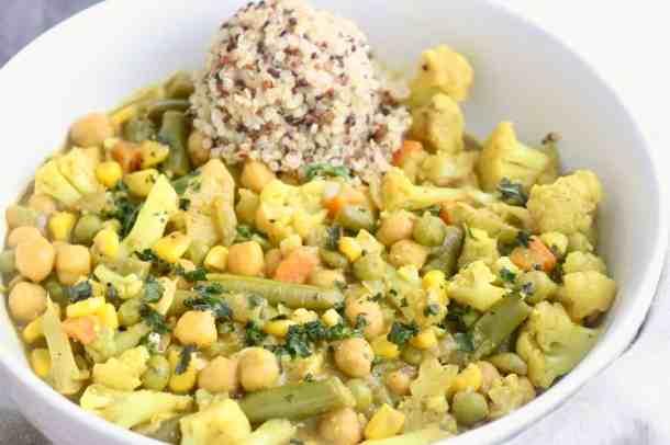Vegan Vegetable Chickpea Coconut Curry
