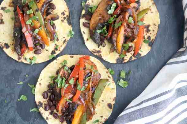 Photo of Black Bean Veggie Fajitas