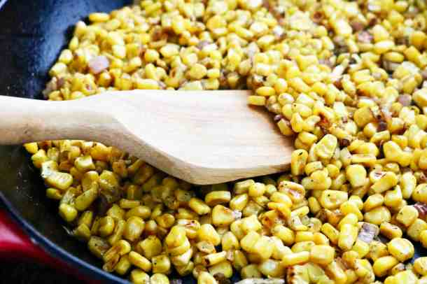Roasted Corn in pan