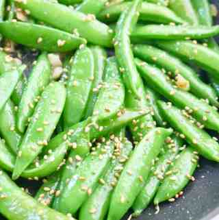 Sugar Snap Peas in Saute Pan