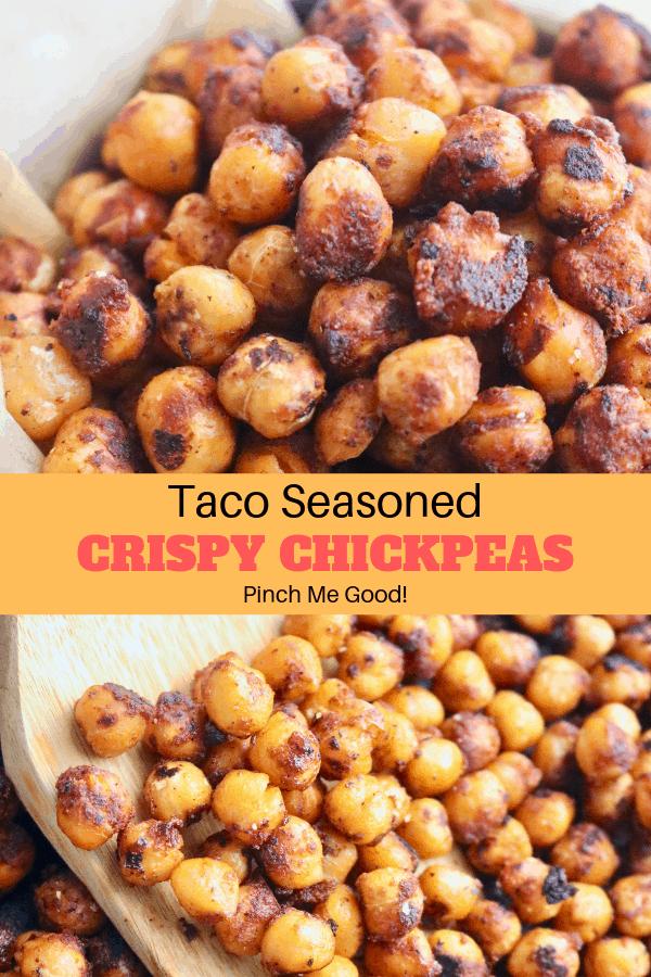 Taco Seasoned Crispy Chickpeas
