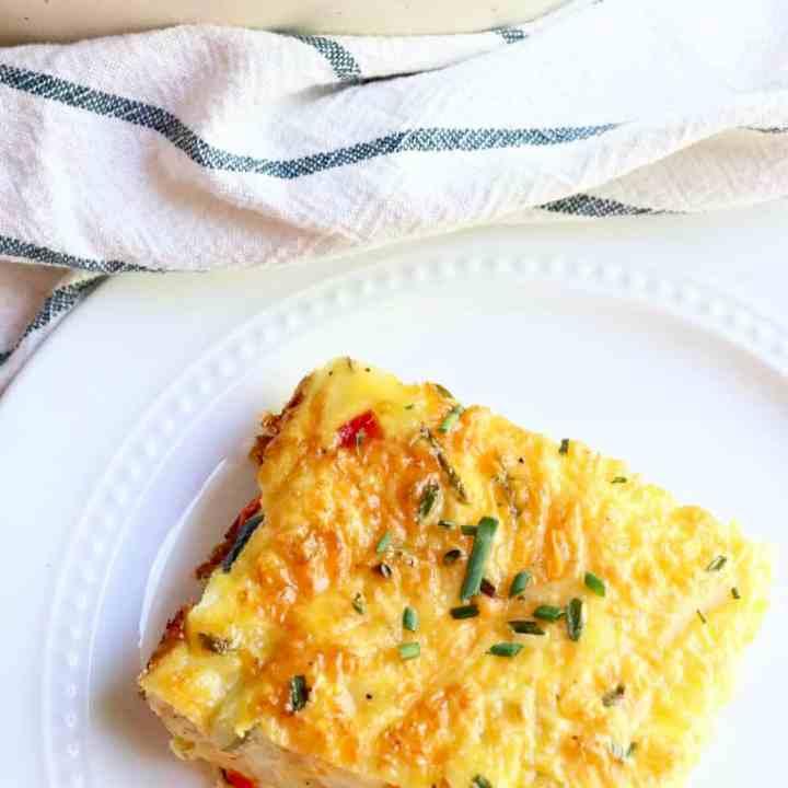 Easy Veggie Egg Bake