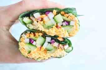 Vegan Quinoa Collard Wraps
