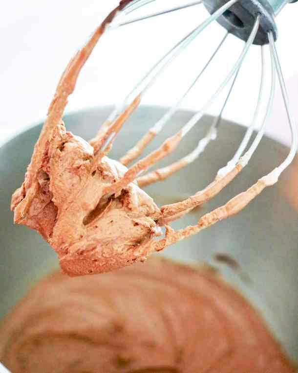 Mousse on whisk
