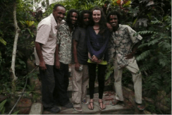 me with Rita Marley's Band, The Three Brothers
