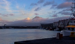 A volcano at the docks, Faial, Azores