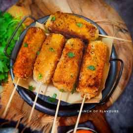 Air fried Paneer Bread Rolls