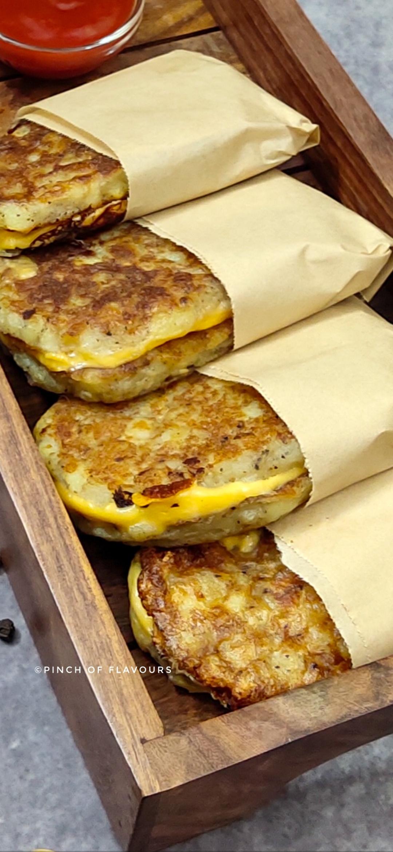 Crispy cheesy hash browns - Air Fryer Hash Browns