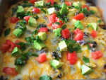healthy chicken enchilada bake