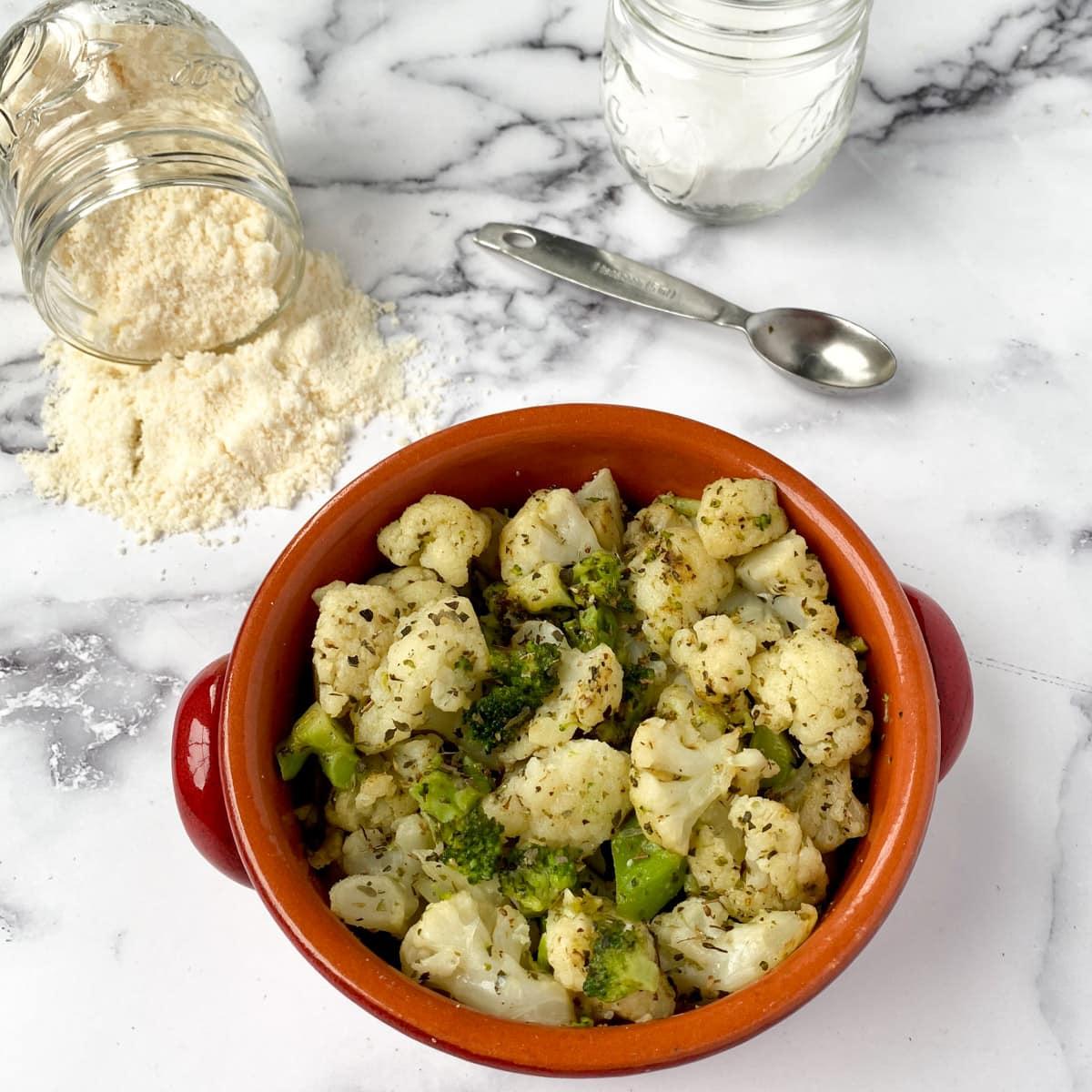 Sauteed Frozen Broccoli And Cauliflower Pinch Of Wellness
