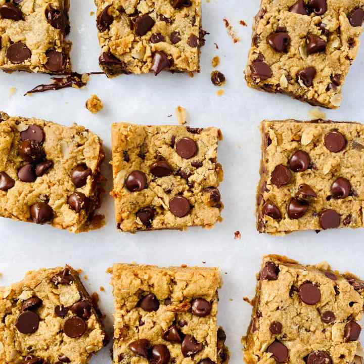 Peanut Butter Oatmeal Chocolate Chip Bars (1 of 11)