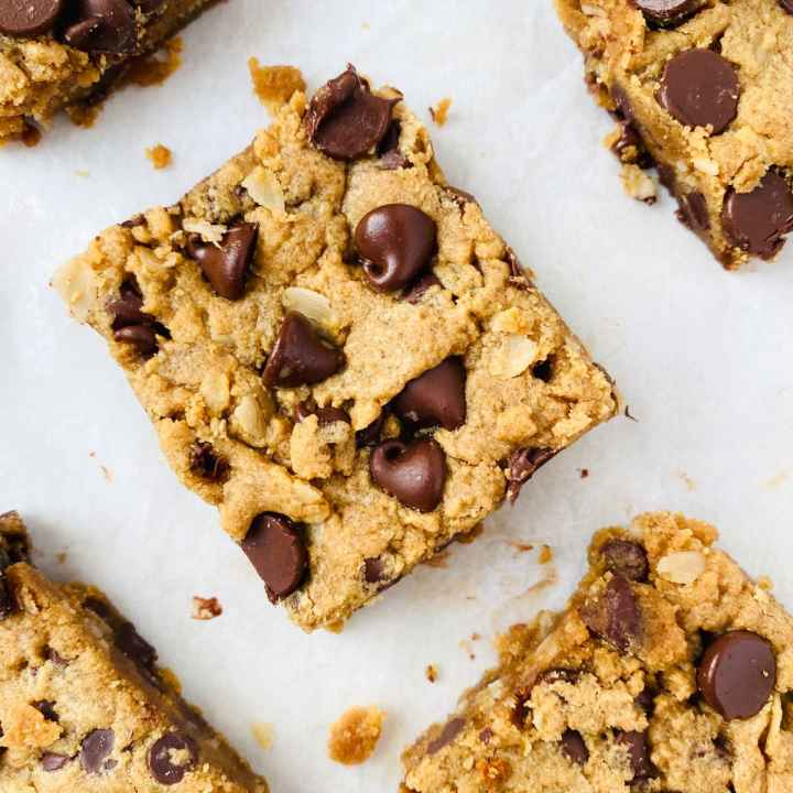 Peanut Butter Oatmeal Chocolate Chip Bars (2 of 11)
