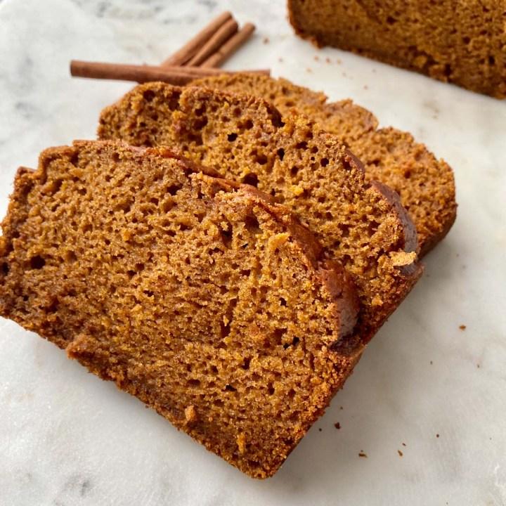 Gluten free pumkin bread