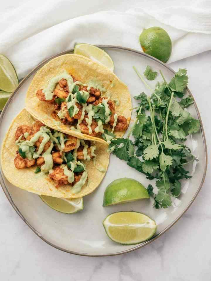 Spicy-Shrimp-Tacos-with-Avocado-Cream-Sauce