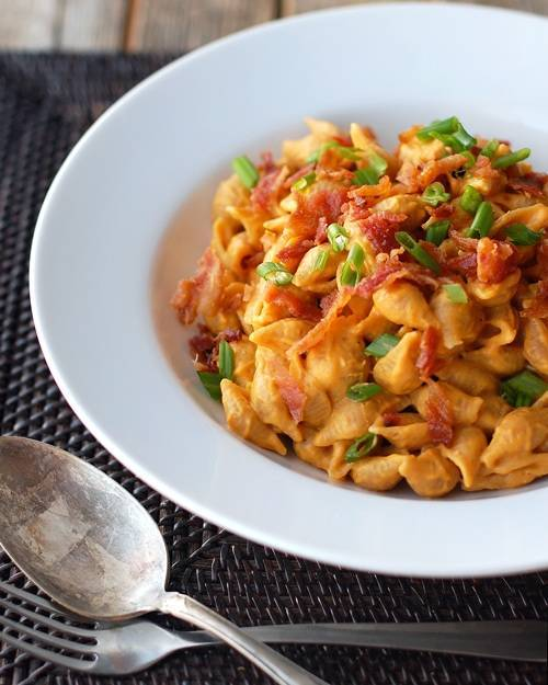 Post image for Healthy Bacon & Pumpkin Pasta